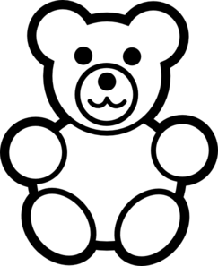 243x297 Teddy Bear Clip Art