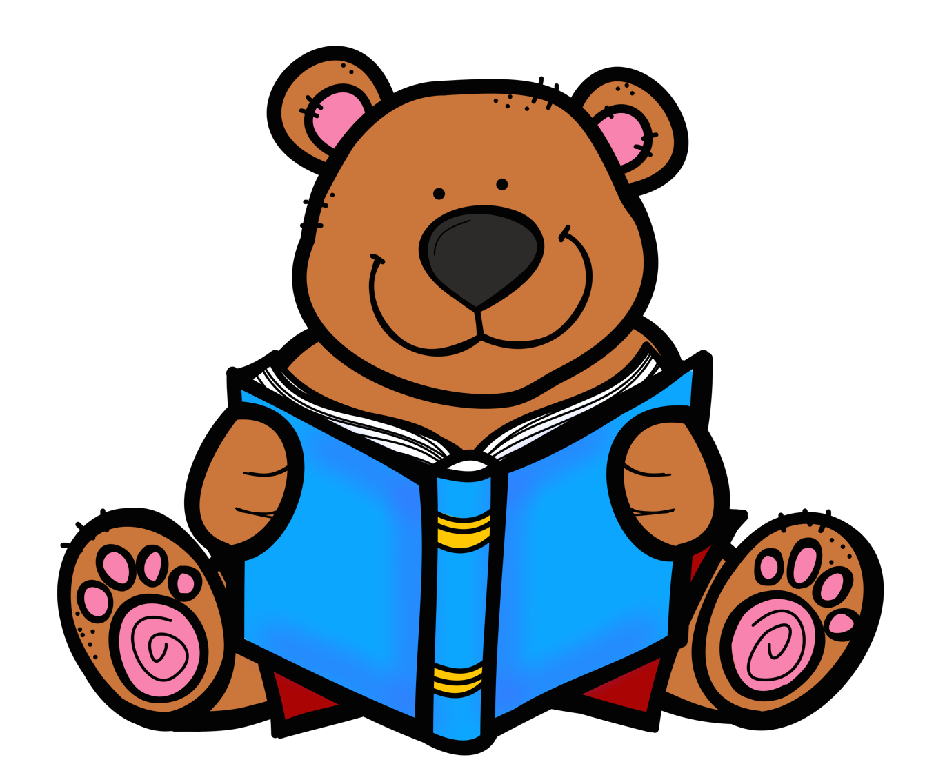 1370x1105 Teddy Clipart Reading