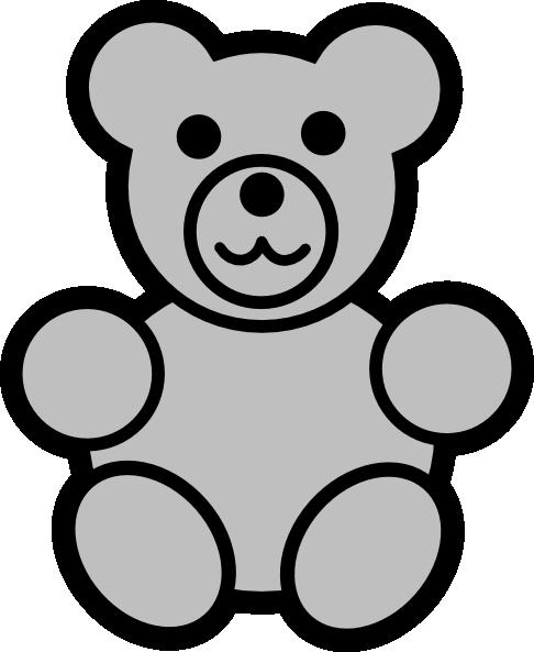 486x593 Gray Bear Clip Art