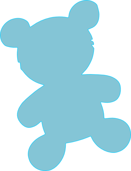 456x593 Teddy Bear Clipart Baby Blue