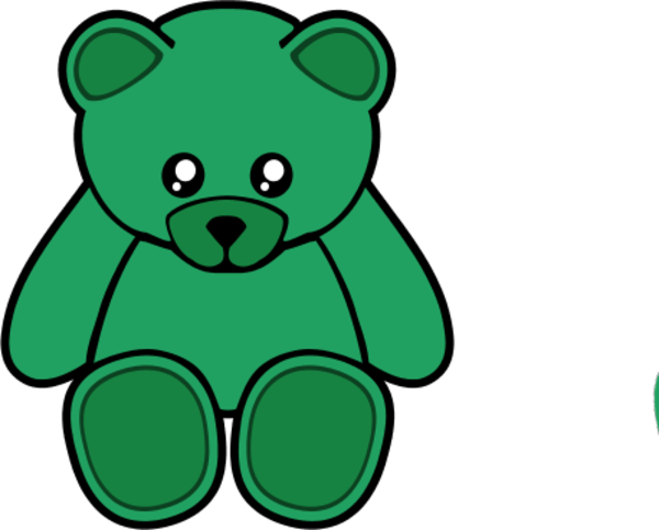 600x483 Teddy Bear Clipart Green