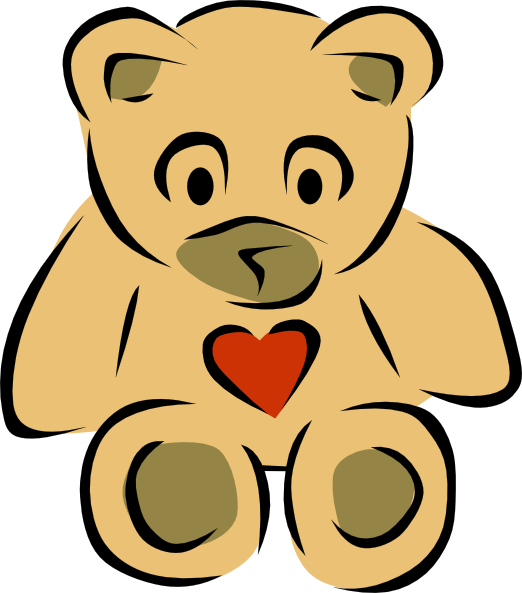 522x593 Teddy Bears With Hearts Clip Art Free Vector 4vector