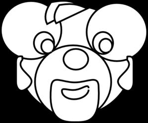 299x249 Cartoon Bear Head Outline Clip Art