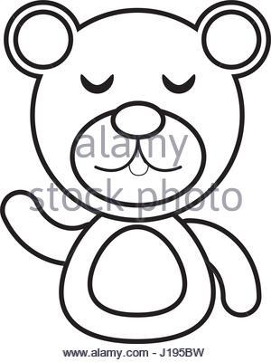 300x400 Cartoon Teddy Bear Outline Stock Vector Art Amp Illustration, Vector