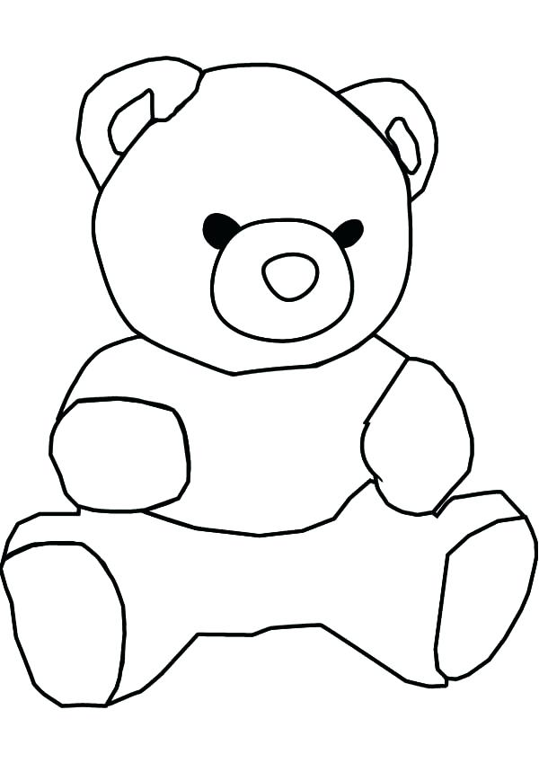 600x849 Outline Of A Bear Polar Bear Outline Library Teddy Bear Outline
