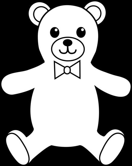 437x550 Teddy Bear Outline