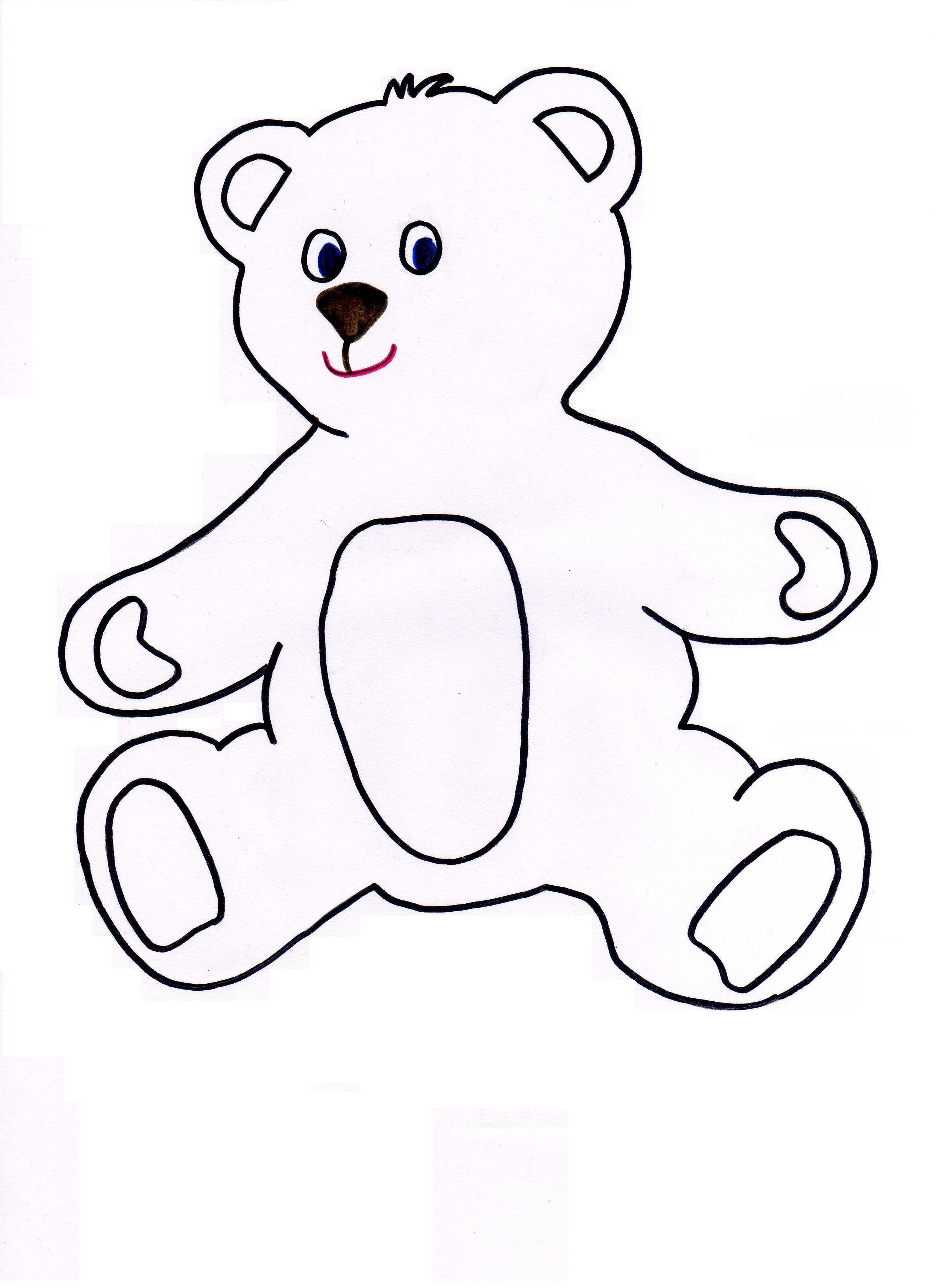 2550x3509 Teddy Bear Clipart Stencil