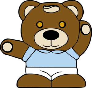 300x288 6377 Free Clipart Teddy Bear Outline Public Domain Vectors