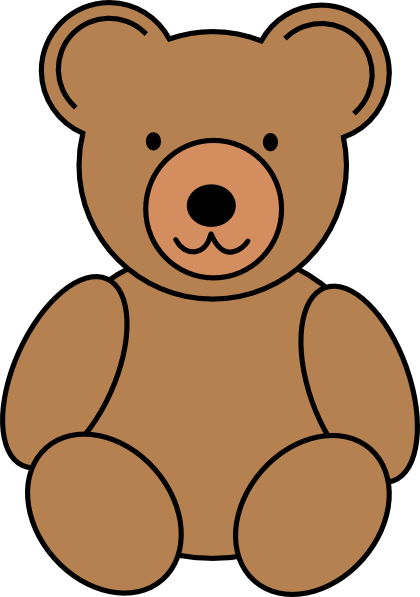 420x597 Teddy Bear Outline Clipart Free Clipart Images