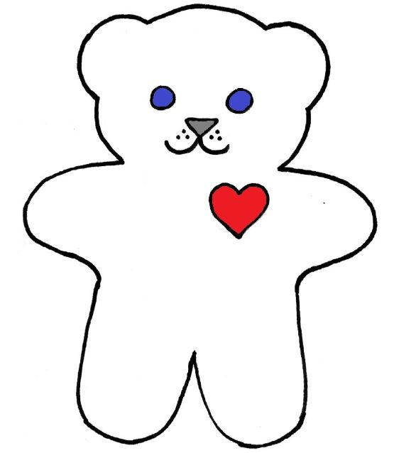 555x638 Teddy Bear Outline Images About Outlines On On Light Clip Art