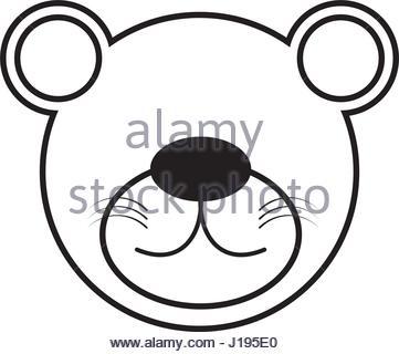361x320 Bear Grizzly Mascot Head Vector Cartoon Stock Vector Art