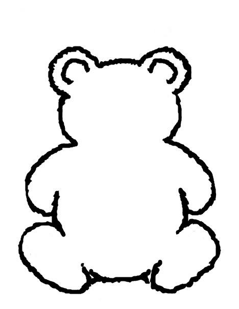 468x605 Bear Outline Clip Art