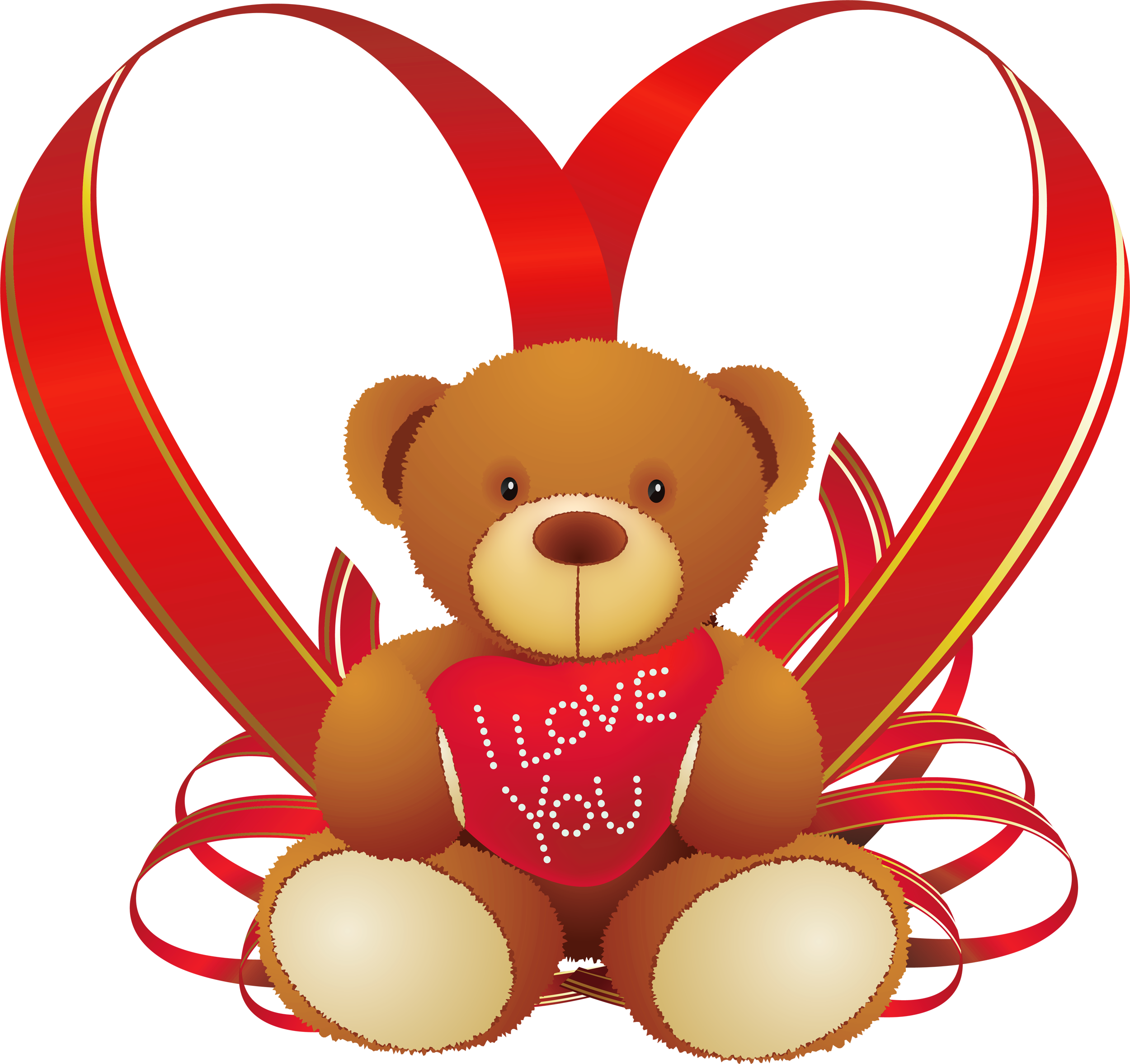 2500x2353 Red Heart With Teddy Bear Png Clipartu200b Gallery Yopriceville