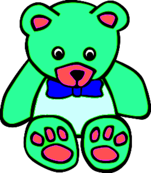 524x600 Surf Green Teddy Bear Clipart Free Images