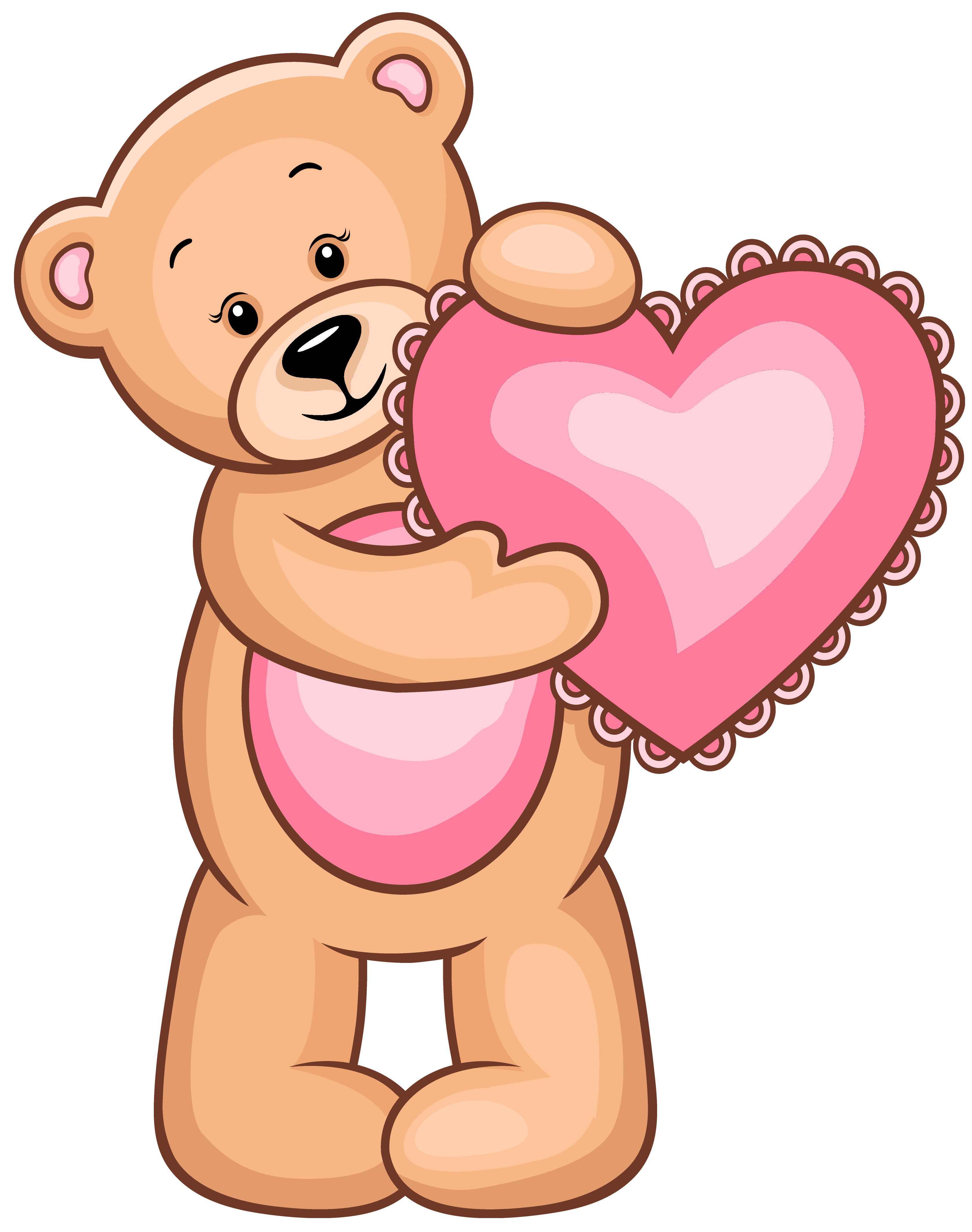 3349x4244 Transparent Teddy Bear With Pink Heart Png Clipartu200b Gallery