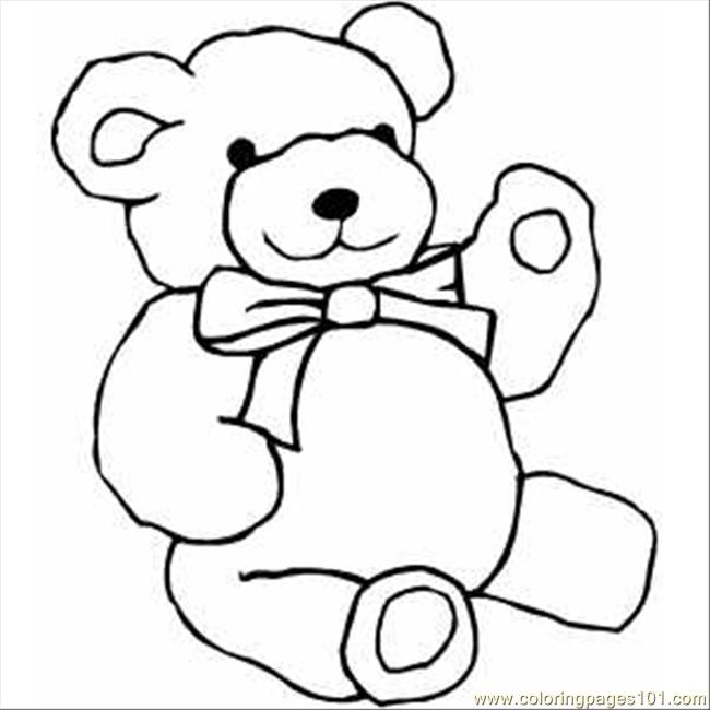 650x650 Drawn Bear Line Drawing