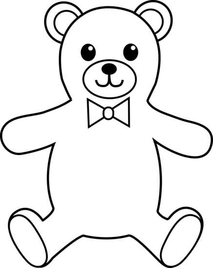 437x550 Teddy Bear Colorable Line Art
