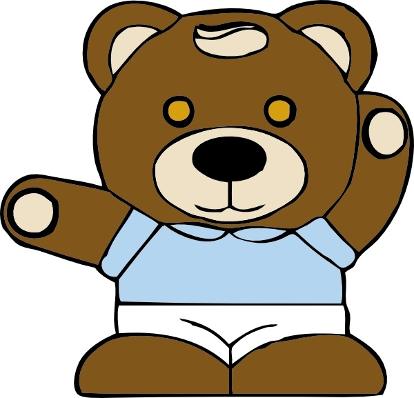 600x577 Teddy Bear Clip Art Free Vector In Open Office Drawing Svg ( Svg