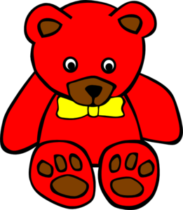 261x299 Teddy Bear Clipart Red