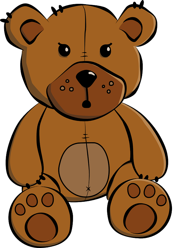 609x837 Teddy Clipart Line Art