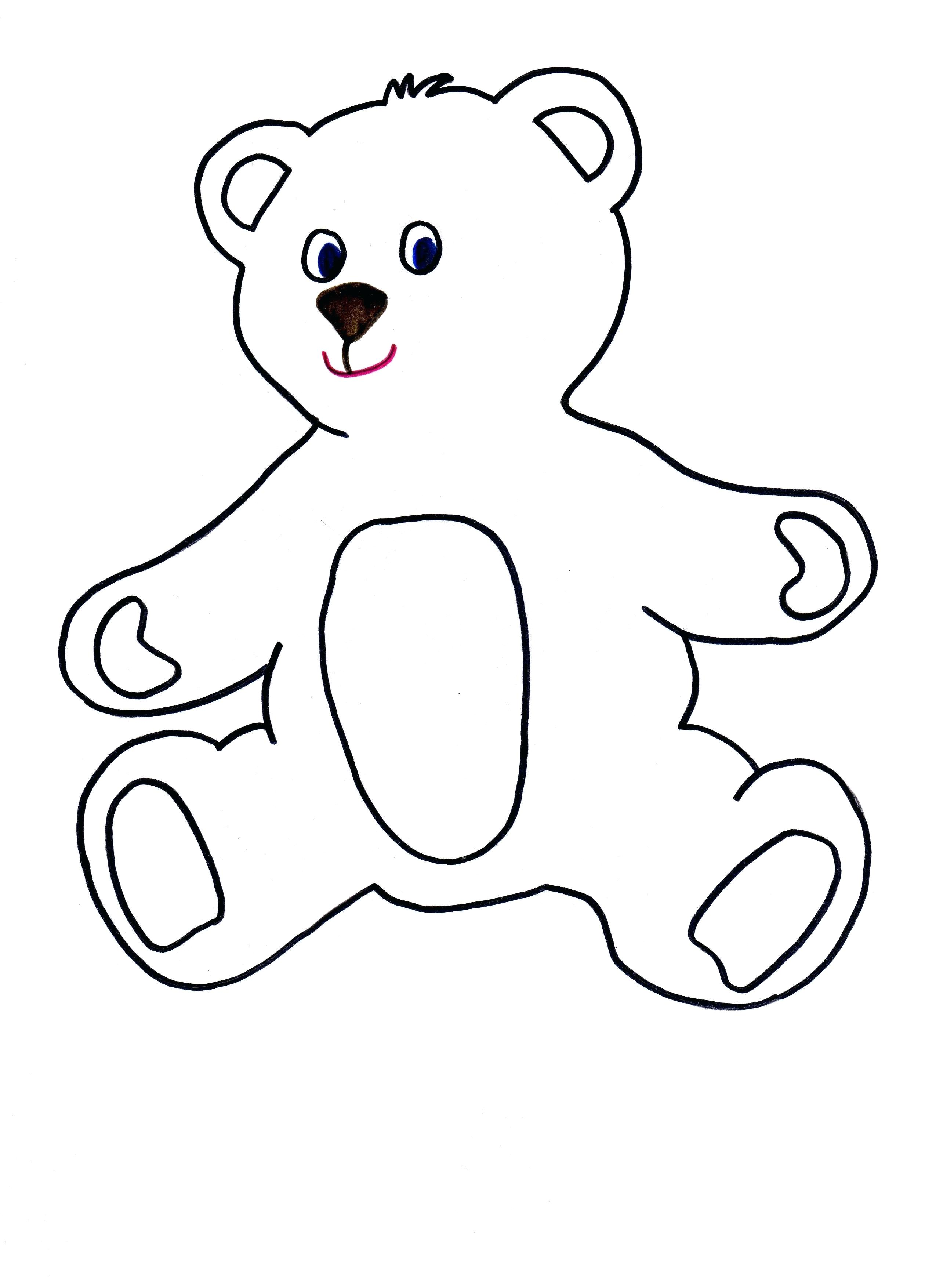 2550x3509 Articles With Outline Sketch Teddy Bear Tag Captivating Outline