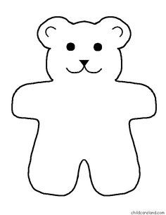 236x305 Teddy Bear Template To Print Templates Click On Picture