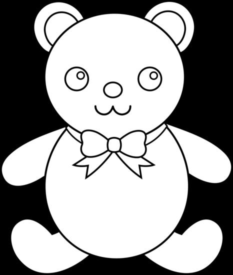 466x550 Teddy bear outline teddy bear clip art outline clipart gallery 2