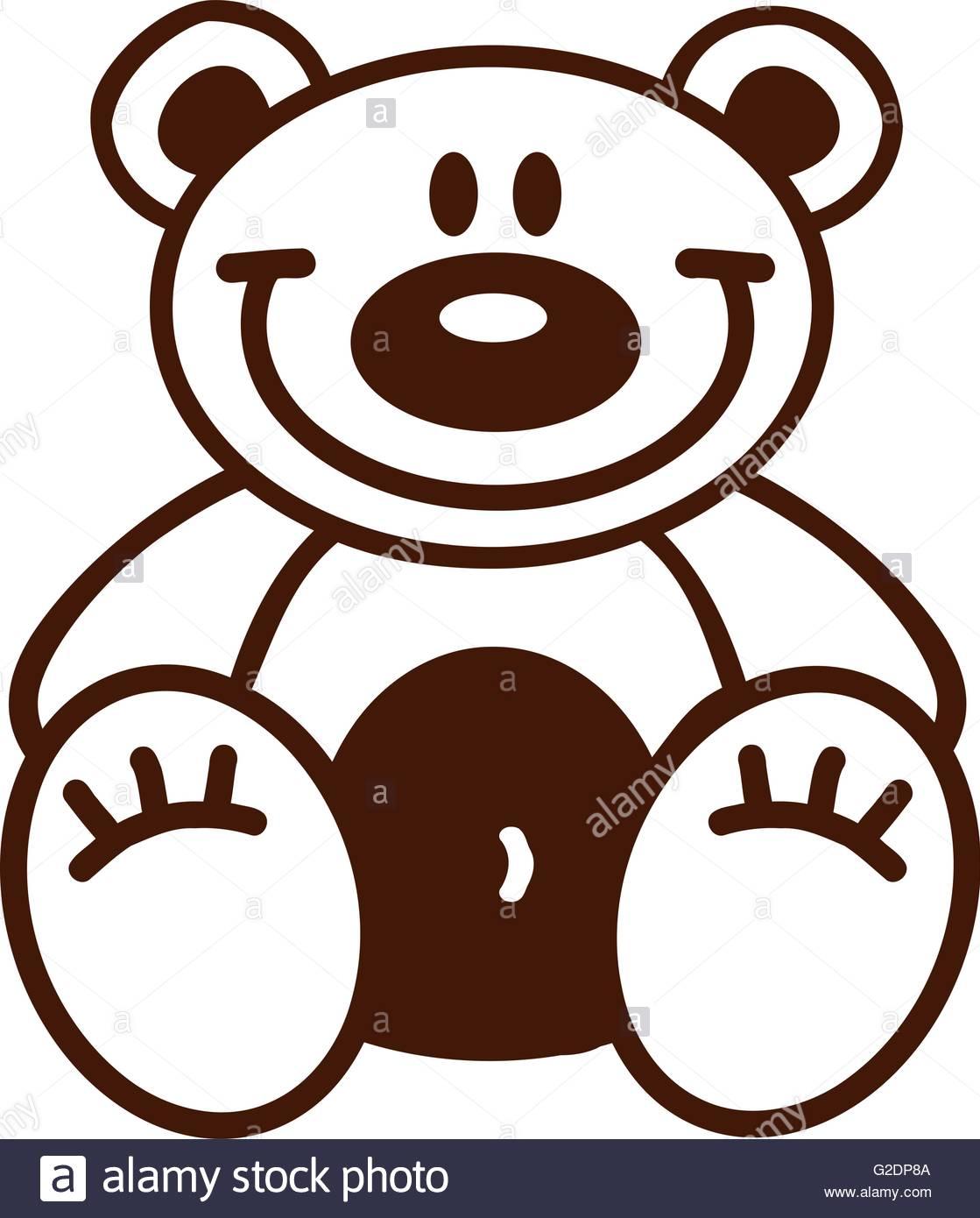 1119x1390 Cartoon teddy bear outline Stock Vector Art amp Illustration, Vector