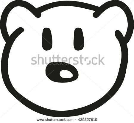 450x413 Drawn Teddy Bear Head