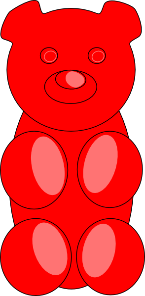 294x598 Gummy Bear Outline Clip Art