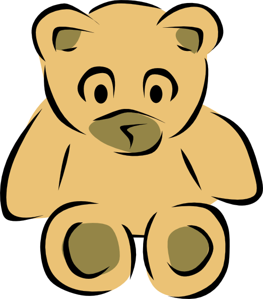 522x593 Stylized Teddy Bear Clip Art Free Vector 4vector