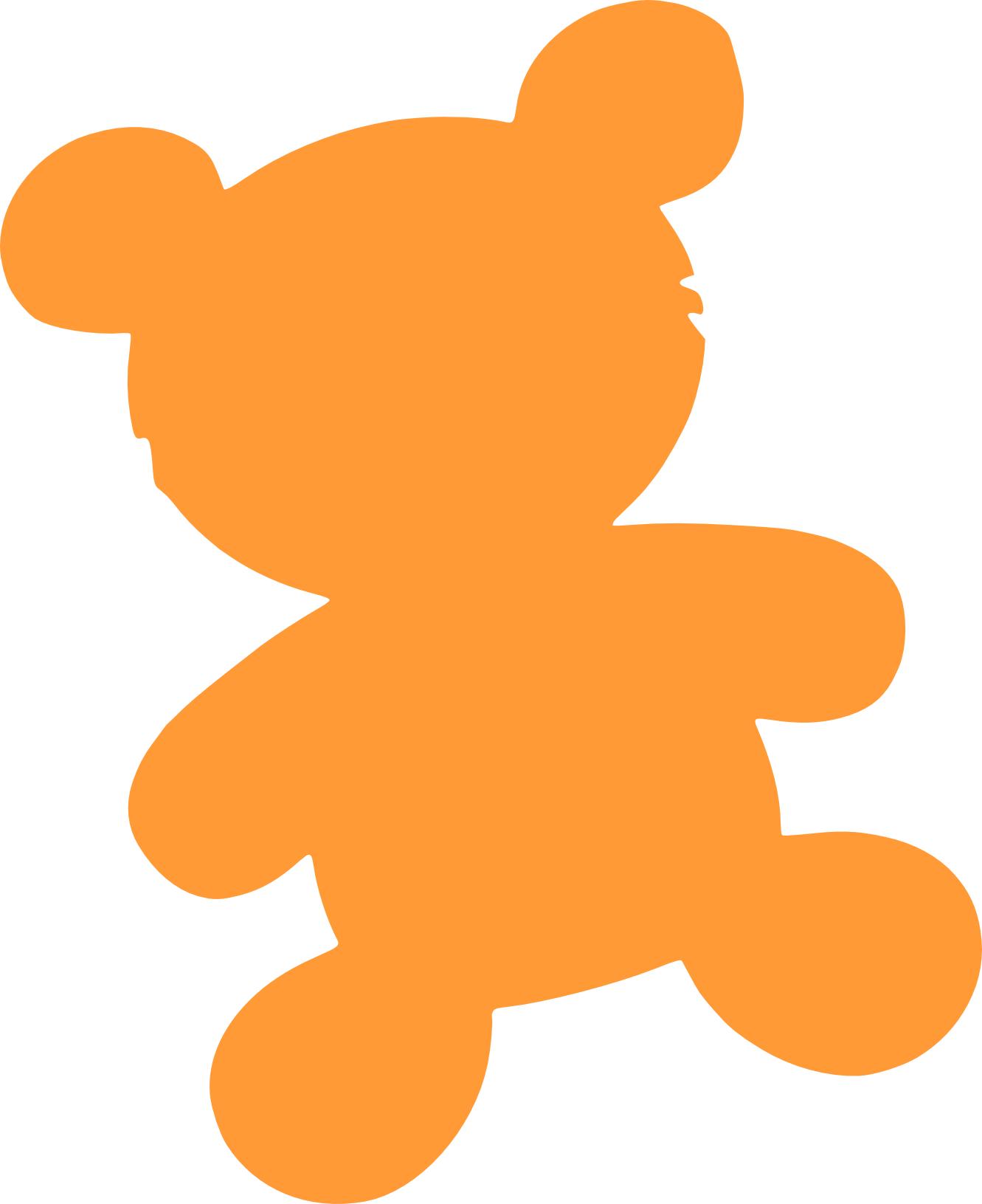 1331x1631 Teddy Bear clipart silhouette