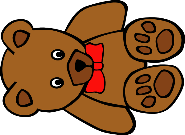 600x440 Teddy Bear Clip Art Black And White Free Clipart