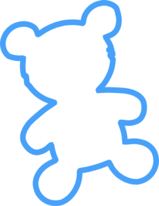 230x297 Bear Outline Clip Art