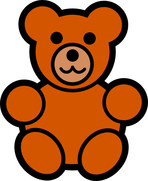 486x593 Teddy Bear Outline Clipart Free Clipart Images 3