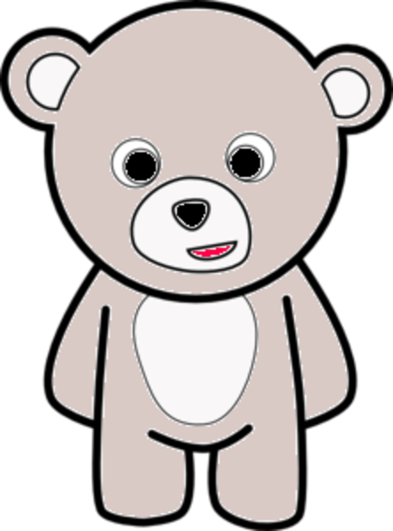 444x600 Teddy Bear Outline Md Free Images