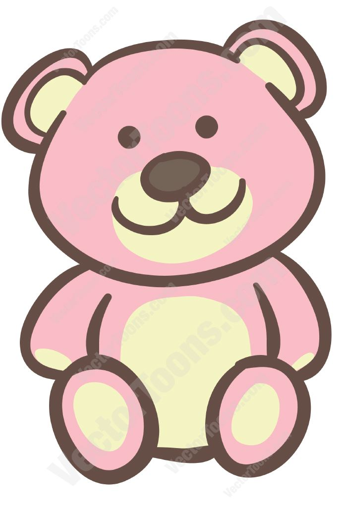690x1024 Pink Bear Outline Clipart