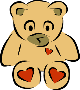 261x296 Teddy Bears With Hearts Clip Art