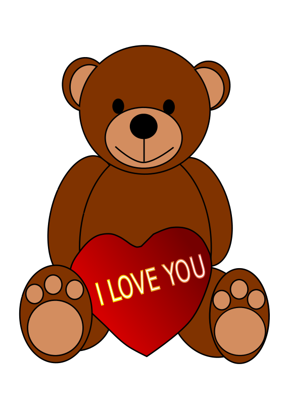 566x800 Valentine Teddy Bears Clipart