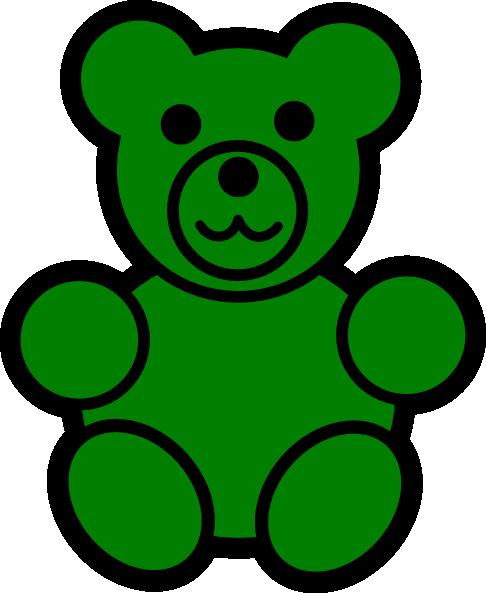 486x593 Green Bear Clip Art