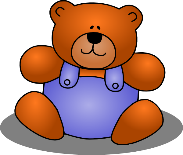 600x510 Teddy Bear Clip Art