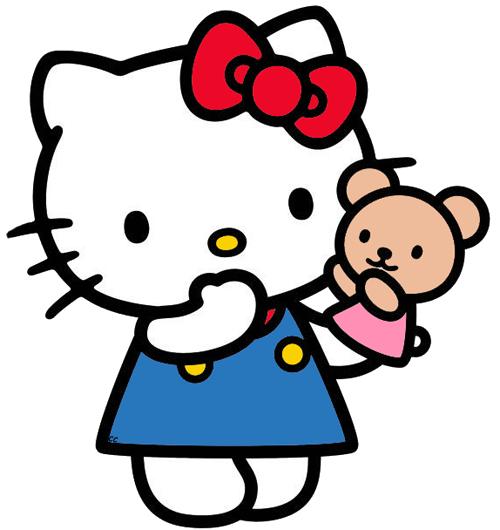500x530 Teddy Bear Clipart Hello Kitty