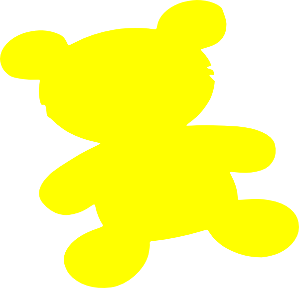 600x579 Yellow Teddy Bear Png, Svg Clip Art For Web