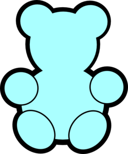249x300 Blue Teddy Bear Clip Art