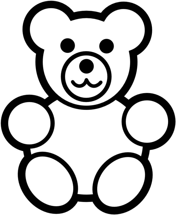 738x900 Teddy Bear Clipart Coloring Book