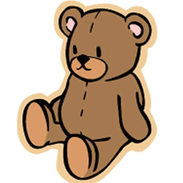 600x600 Baby Girl Teddy Bear Clip Art