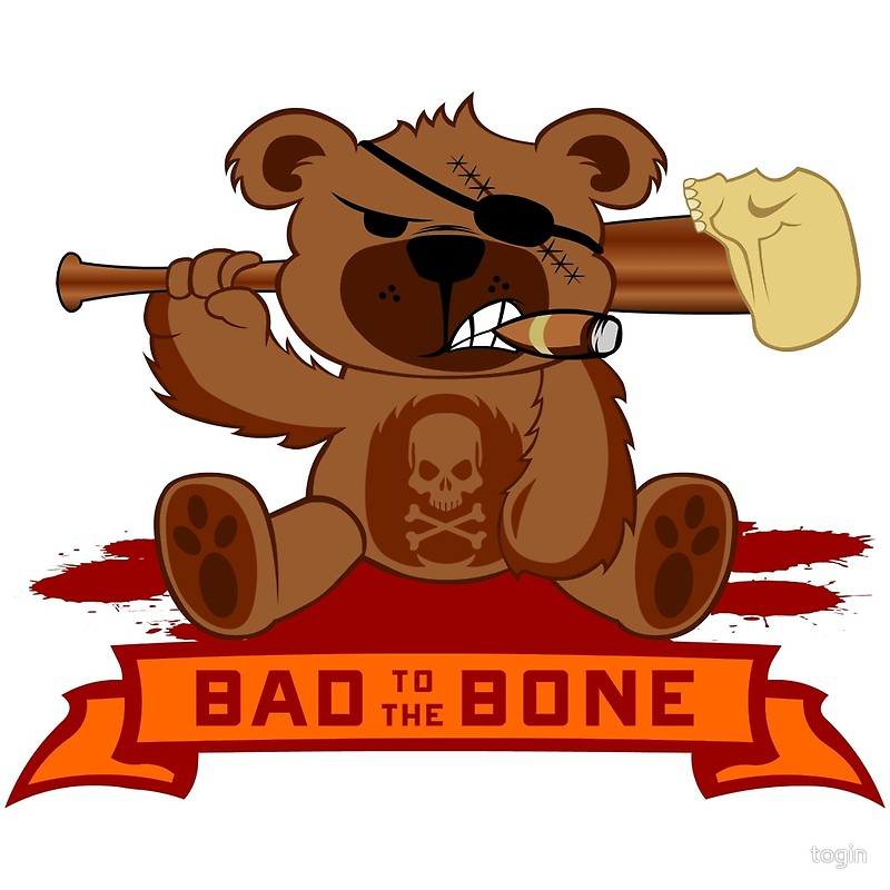 800x800 Badass Teddy Bear Art Prints By Togin Redbubble