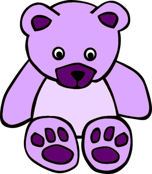 525x600 Purple Teddy Bear Clip Art
