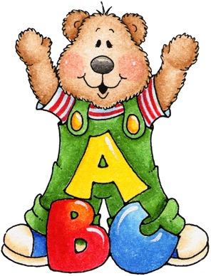 296x388 Clipart Decpoupage Abc Teddy Bear Schoolteacher Clip Art