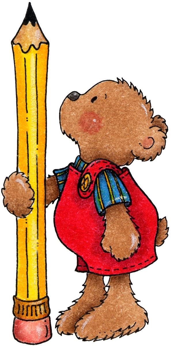 594x1200 Clipart Decpoupage Teddy Bear Pencil[4].jpg] Beginning School